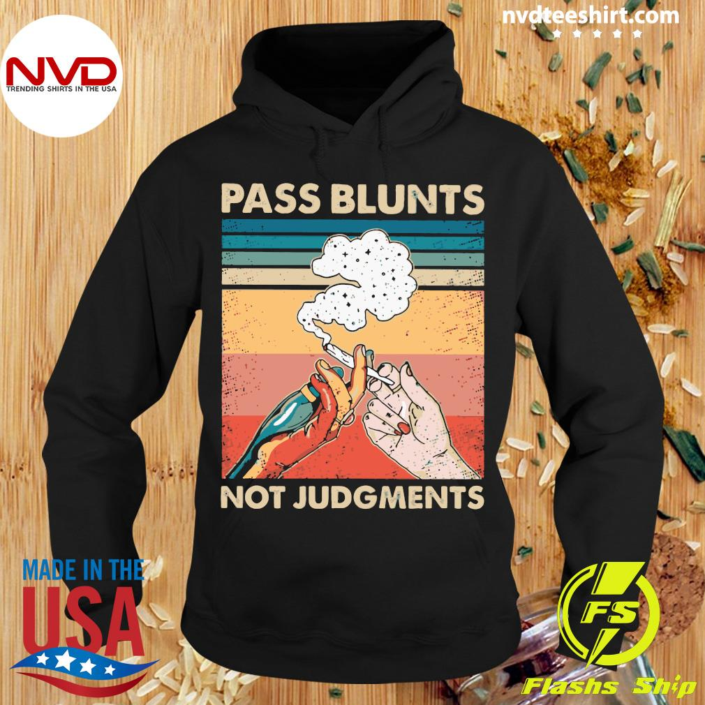 Smoking Pass Blunts Not Judgments Vintage Shirt