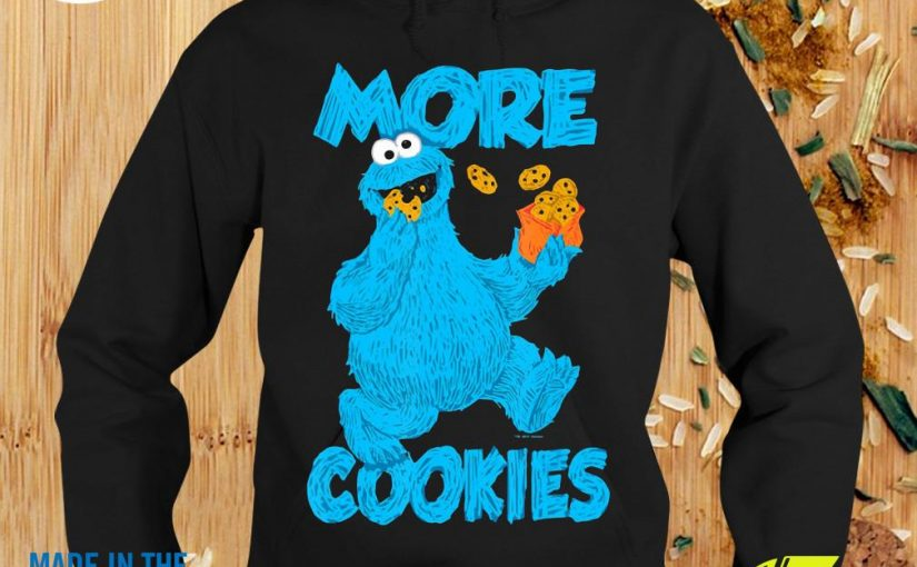 Official Sesame Street Monster More Cookies Hoodie