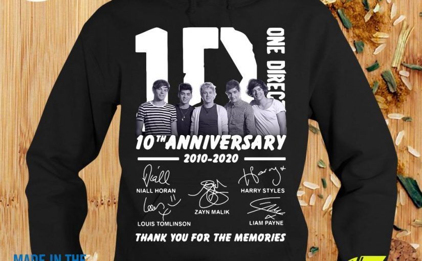 One Direction 10th Anniversary 2010 2020 Thank You For The Memories Hoodie