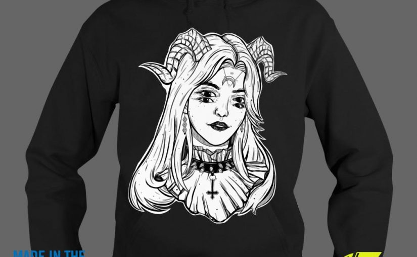 Devil Satanic Goth Choker Glitch Halloween Shirt