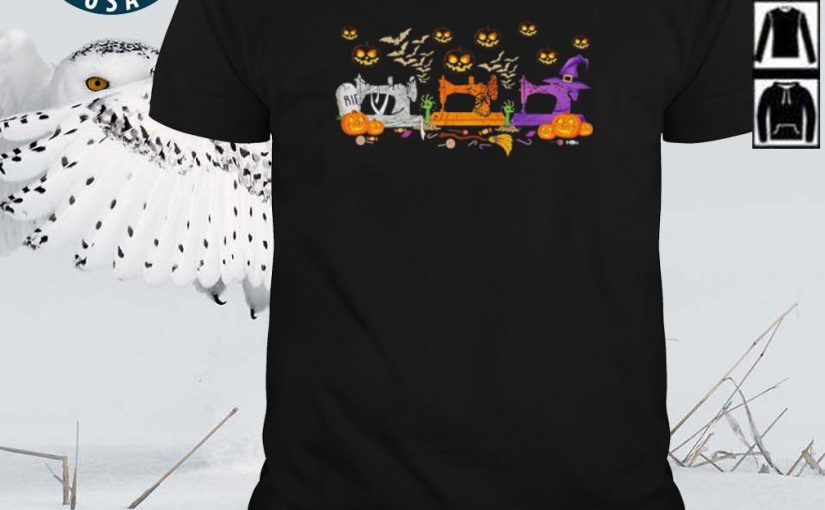 Top Quilting Sewing Halloween shirt